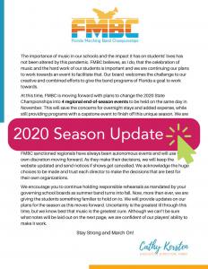 Season Update 2020 FMBC